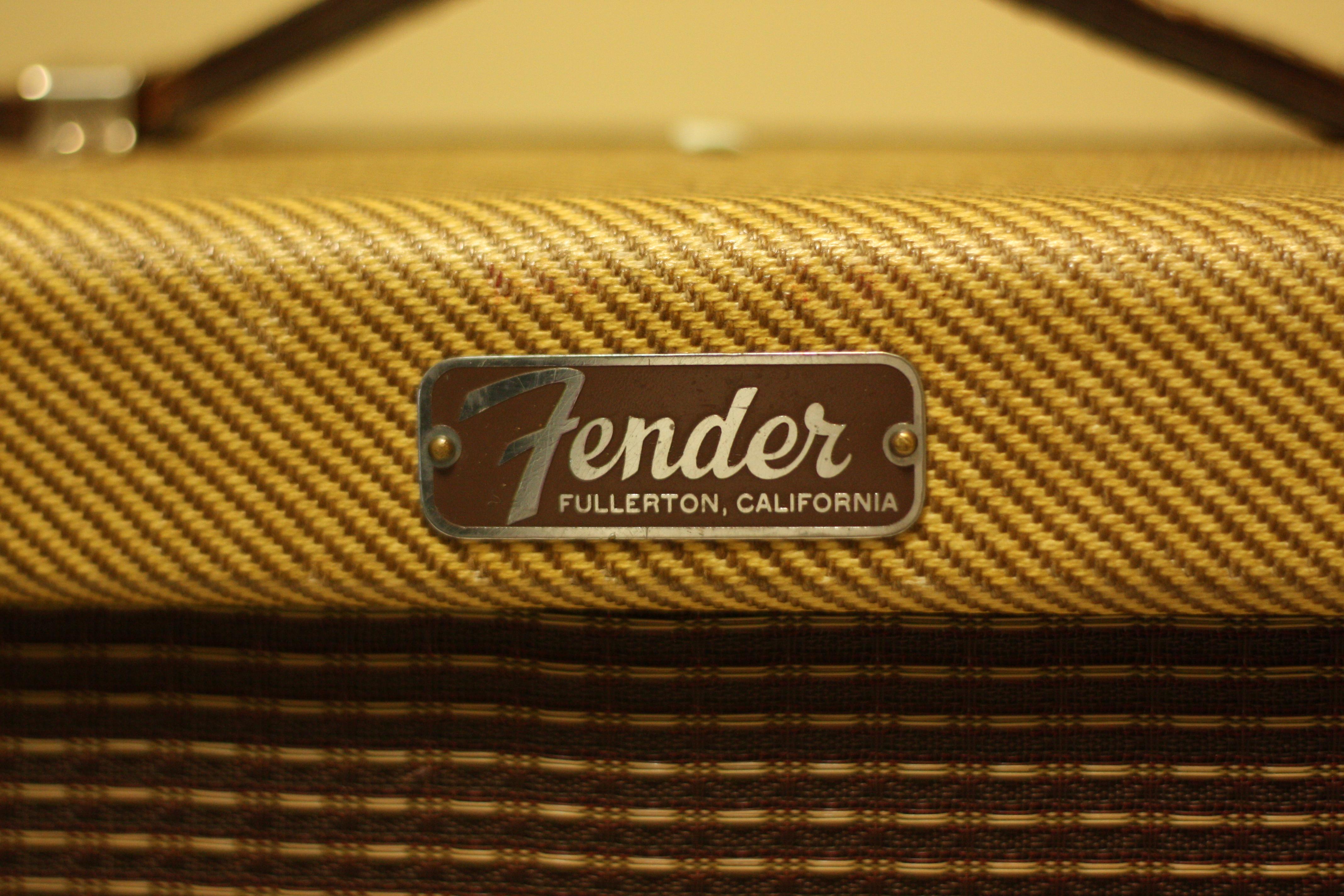 Vintage Tweed Fender Champ Logo My Fender Champ